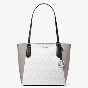   MK   Small Color-Block Logo Tote Bag